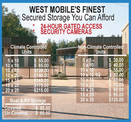 Anchor Self Storage Is West Mobile Alabama S Finest Affordable Secured Mini Facility We Have 24 Hour Gated Access And Security